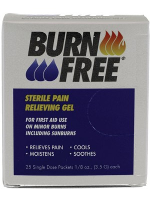 BurnFree® PAIN RELIEVING GEL 3.5gm 25PC BX
