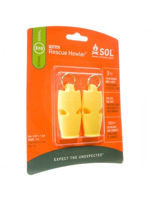 Rescue Howler Whistle, 2/Pack